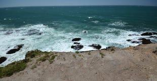 Εντυπώσεις παράλια Ειρηνικού του φωτός χώρων σημείου, Καλιφόρνια ΗΠΑ στοκ εικόνα