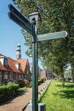 Εντύπωση του χωριού Hindeloopen Frisian στις Κάτω Χώρες Στοκ Φωτογραφίες