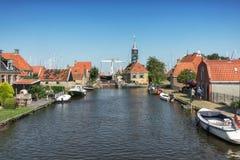 Εντύπωση του χωριού Hindeloopen Frisian στις Κάτω Χώρες Στοκ φωτογραφία με δικαίωμα ελεύθερης χρήσης