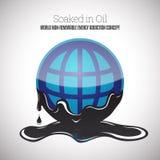 Ενυδατωμένος στο πετρέλαιο Στοκ Εικόνες