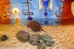 Ενυδρείο νωπογραφίας τοίχων Atlantis Στοκ εικόνα με δικαίωμα ελεύθερης χρήσης