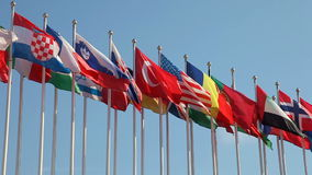 Ενωμένες σημαίες απόθεμα βίντεο