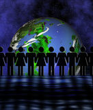 ενωμένος κόσμος ελεύθερη απεικόνιση δικαιώματος