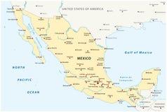 Ενωμένος μεξικάνικος κρατικός διανυσματικός χάρτης απεικόνιση αποθεμάτων