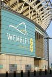 ενωμένο στάδιο wembley αντιστοιχιών του Λονδίνου βασίλειων ποδοσφαίρου Στοκ φωτογραφία με δικαίωμα ελεύθερης χρήσης