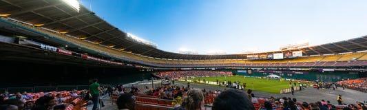 Ενωμένο συνεχές ρεύμα πανόραμα σταδίων ποδοσφαίρου στοκ φωτογραφία με δικαίωμα ελεύθερης χρήσης