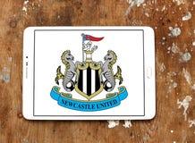 Ενωμένο το Νιουκάσλ λογότυπο λεσχών ποδοσφαίρου στοκ εικόνες με δικαίωμα ελεύθερης χρήσης