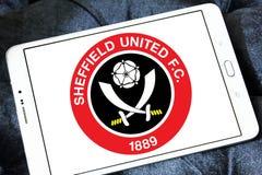 Ενωμένο το Σέφιλντ Φ Γ Λογότυπο λεσχών ποδοσφαίρου στοκ εικόνα με δικαίωμα ελεύθερης χρήσης