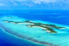 Ενός & μόνο Reethi Rah, θερινών νησιών & νησιών Madivaru θέρετρο Στοκ Εικόνες