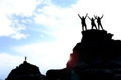 Ενότητα, επιτυχείς άνθρωποι με ένα πνεύμα της ενότητας στοκ εικόνες