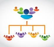 Ενώνοντας ομάδες. επιλογή ηγετών. καλύτεροι υποψήφιοι διανυσματική απεικόνιση
