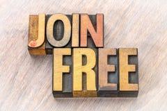 Ενώστε την ελεύθερη περίληψη λέξης στον ξύλινο τύπο στοκ εικόνες