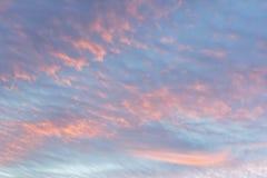 Ενώ ο ουρανός βραδιού, ηλιοβασίλεμα, όμορφο, πολύ διαφορετικό από το κάθε μέρα πάντα βρίσκει Στοκ εικόνες με δικαίωμα ελεύθερης χρήσης