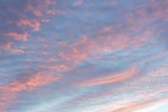 Ενώ ο ουρανός βραδιού, ηλιοβασίλεμα, όμορφο, πολύ διαφορετικό από το κάθε μέρα πάντα βρίσκει Στοκ εικόνα με δικαίωμα ελεύθερης χρήσης