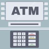 Ενδιάμεσο με τον χρήστη του ATM Στοκ Φωτογραφία