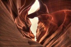 Ενδιαφέροντες σχηματισμοί πετρών μέσα στο χαμηλότερο φαράγγι αντιλοπών, ΗΠΑ, εικόνα HDR Στοκ Εικόνες