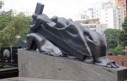 Ενδιαφέρον μνημείο στο νεκροταφείο, Σάο Πάολο στοκ φωτογραφίες με δικαίωμα ελεύθερης χρήσης