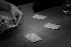 Ενδιαφέρον παιχνίδι καρτών διασκέδασης, ελεύθερος χρόνος Στοκ εικόνες με δικαίωμα ελεύθερης χρήσης
