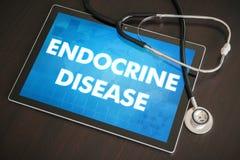 Ενδοκρινής διάγνωση ασθενειών (κωνοειδής, βλεννογόνος, θυροειδής) ιατρική στοκ φωτογραφίες