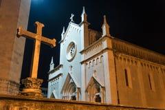 Εν τω μεταξύ στην εκκλησία κοινοτήτων της Κροατίας Kastel Novi του ST Peter ο απόστολος στοκ εικόνα με δικαίωμα ελεύθερης χρήσης