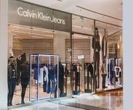 Ενδύματα καταστημάτων του Calvin Klein στη μητρόπολη λεωφόρων στοκ φωτογραφίες