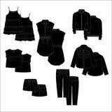 Ενδύματα παιδιών Vecor μαύρο χρώμα Στοκ φωτογραφία με δικαίωμα ελεύθερης χρήσης