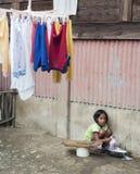 Ενδύματα πλύσης κοριτσιών Στοκ εικόνα με δικαίωμα ελεύθερης χρήσης