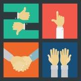 Εξάρτηση σημαδιών επιχειρησιακών χεριών Στοκ εικόνες με δικαίωμα ελεύθερης χρήσης