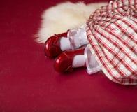 Εξάρτηση, φόρεμα και παπούτσια Χριστουγέννων στοκ φωτογραφίες