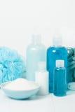 Εξάρτηση SPA Σαμπουάν, φραγμός σαπουνιών και υγρό Πήκτωμα ντους Aromatherapy Στοκ φωτογραφίες με δικαίωμα ελεύθερης χρήσης