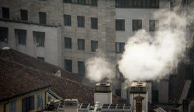 Εξάτμιση από ένα κτήριο Στοκ φωτογραφίες με δικαίωμα ελεύθερης χρήσης