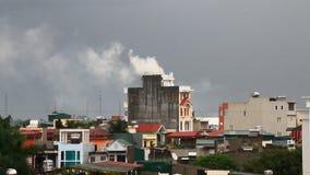 Εξάτμιση εργοστασίων στο περιβάλλον απόθεμα βίντεο