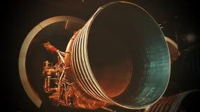 Εξάτμιση μηχανών πυραύλων διαστημοπλοίων φαντασίας Στοκ Εικόνες