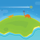Εξάλειψη δεινοσαύρων Στοκ Εικόνα