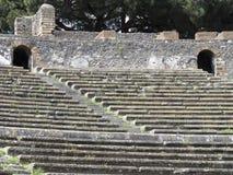 Εξέδρα επισήμων του ρωμαϊκού θεάτρου Στοκ Φωτογραφία
