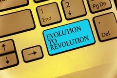Εξέλιξη κειμένων γραψίματος λέξης στην επανάσταση Επιχειρησιακή έννοια για να προσαρμοστεί στον τρόπο για το πληκτρολόγιο μπλε Κ  Στοκ εικόνα με δικαίωμα ελεύθερης χρήσης
