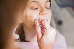 Εξέταση οδοντιάτρων Στοκ φωτογραφίες με δικαίωμα ελεύθερης χρήσης