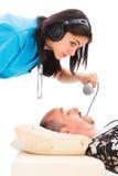 Εξέταση Snoring Στοκ φωτογραφίες με δικαίωμα ελεύθερης χρήσης