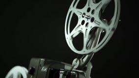 Εξέλικτρο 8mm ταινιών ο Μαύρος απόθεμα βίντεο