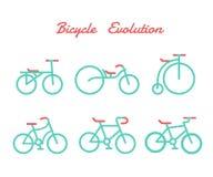 Εξέλιξη ποδηλάτων Στοκ εικόνες με δικαίωμα ελεύθερης χρήσης