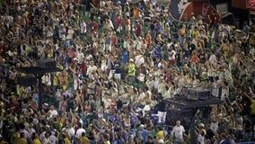 Εξέδρες επισήμων στην παρέλαση σταδίων Sambodromo καρναβάλι Στοκ φωτογραφία με δικαίωμα ελεύθερης χρήσης