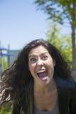 Εξαγριωμένη γυναίκα που φωνάζει εσείς Στοκ φωτογραφίες με δικαίωμα ελεύθερης χρήσης