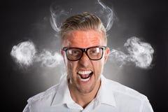 Εξαγριωμένος νέος επιχειρηματίας Στοκ εικόνα με δικαίωμα ελεύθερης χρήσης