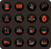 Εξαγωγή των εικονιδίων πετρελαίου καθορισμένων ελεύθερη απεικόνιση δικαιώματος