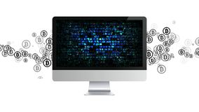 Εξαγωγή Cryptocurrency μεταλλεία Bitcoin Μεταλλεία crypto του νομίσματος στοκ εικόνες με δικαίωμα ελεύθερης χρήσης