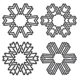 Εξαγωνικά διακοσμητικά σύμβολα Στοκ Εικόνες