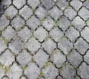 Εξαγωνικές κεραμίδι/πέτρες πεζοδρομίων σχεδίων κατασκευασμένες ενδασφαλίζοντας γκρίζες Στοκ εικόνες με δικαίωμα ελεύθερης χρήσης