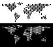 Εξαγωνική αφαίρεση παγκόσμιων χαρτών ελεύθερη απεικόνιση δικαιώματος