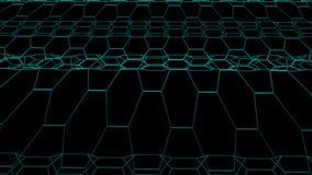 Εξαγωνικός πλέγματος καθαρός κυματίζοντας τομέων νέος ποιοτικός τρύγος υποβάθρου ζωτικότητας γραφικής παράστασης κινήσεων σχεδίων απεικόνιση αποθεμάτων