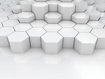 Εξαγωνικό αφηρημένο τρισδιάστατο υπόβαθρο Στοκ φωτογραφία με δικαίωμα ελεύθερης χρήσης